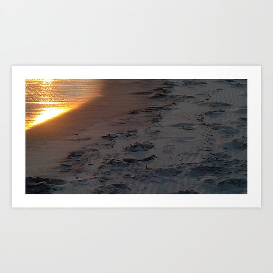 sunset sandpiper Art Print