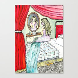 Girl in room Canvas Print