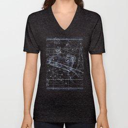 Aries sky star map Unisex V-Neck