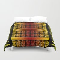 reggae Duvet Covers featuring Naimanu (in reggae colors) by Lonica Photography & Poly Designs