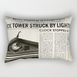 Hill Valley Telegraph - Back to the Future Rectangular Pillow