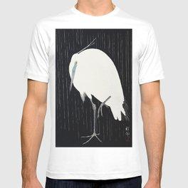 Ohara Koson - Egret in the rain T-shirt