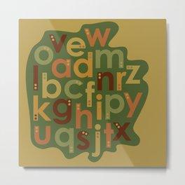Autumn Alphabet Metal Print