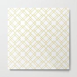 Simply Mod Diamond in Mod Yellow Metal Print