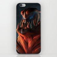 gorilla iPhone & iPod Skins featuring Gorilla by Kirk Pesigan