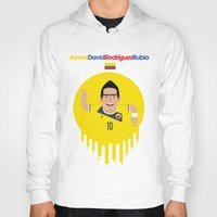 colombia Hoodies featuring James Rodriguez - Colombia by Gary  Ralphs Illustrations