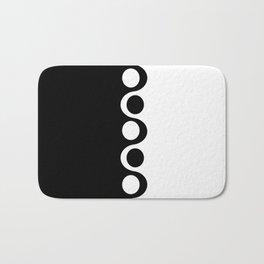 Black and White Mod Bath Mat