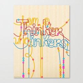 Tinkering Thinker Canvas Print