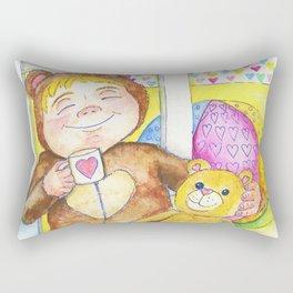 Teddybear tea-time Rectangular Pillow