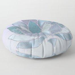 Elegant Glamorous Pastel Lotus Flower Floor Pillow