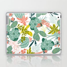 Succulent Garden White Laptop & iPad Skin
