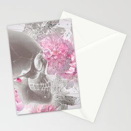 Negative Of Skull And Peonies Stationery Cards