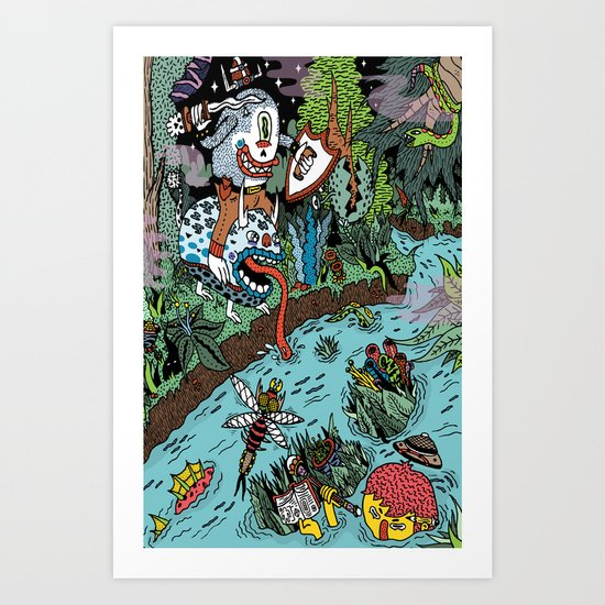Some of us were born to explore!  Art Print
