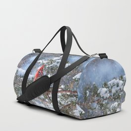 Let It Snow (Northern Cardinal) Duffle Bag