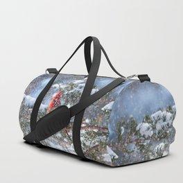 Let It Snow (Northern Cardinal) Duffle Bag