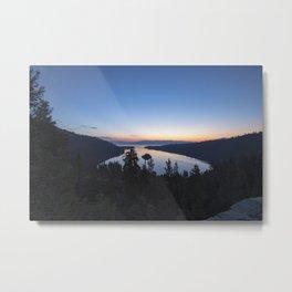 Sunrise over Emerald Ba Metal Print