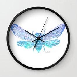 Summer Cicada – Blue Ombré Palette Wall Clock