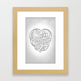 Light of the Love Framed Art Print