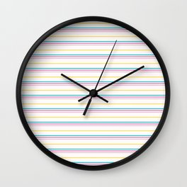 Small summer stripes graphic seamless pattern. Wall Clock