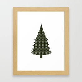 Old Growth Forest patterned Framed Art Print