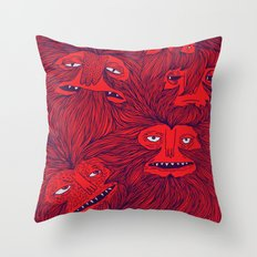 Hairwolves Throw Pillow