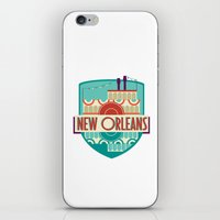 new orleans iPhone & iPod Skins featuring NEW ORLEANS by Fedi