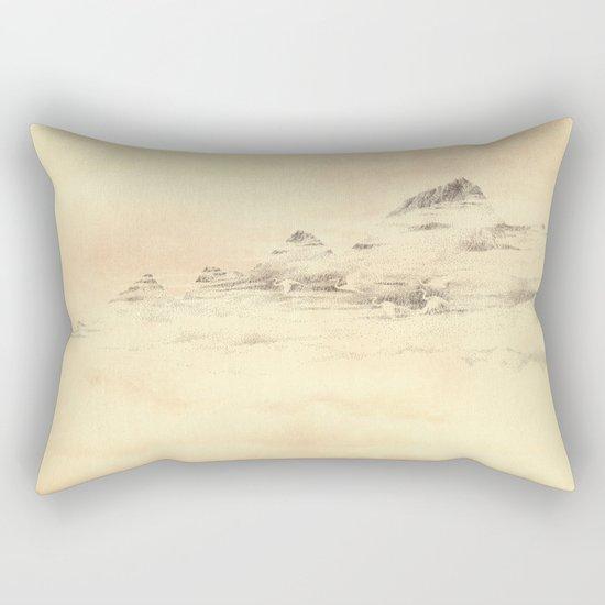 Egrets in Golden Morning Mist Rectangular Pillow