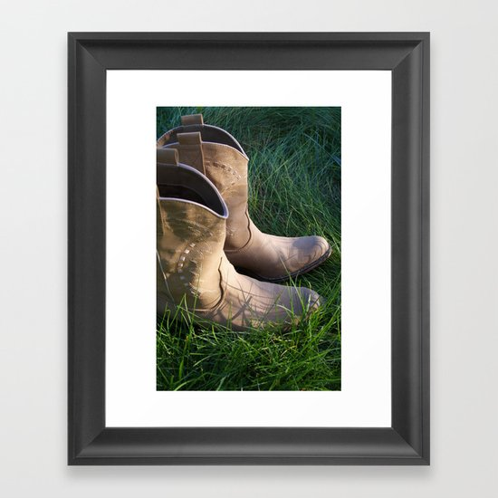 Country Boots 2 Framed Art Print