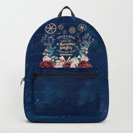 Life is a book Backpack