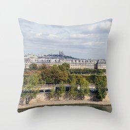 Panoramic view of Paris Throw Pillow