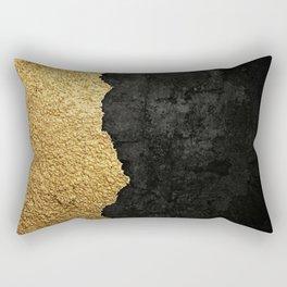 Gold torn & black grunge Rectangular Pillow