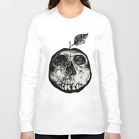 apple Long Sleeve T-shirts featuring Apple by Black Bird