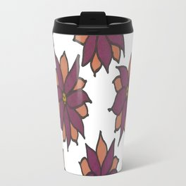 Holiday Two-Toned Flowers Travel Mug