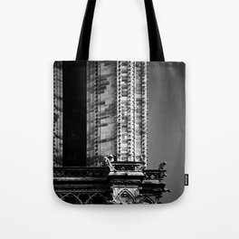 shot on film .. gargoyles of notre dame Tote Bag