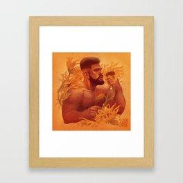 Solar Chocolate Gold Framed Art Print