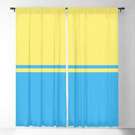 Solid&Solid: Yellow + Blue Blackout Curtain