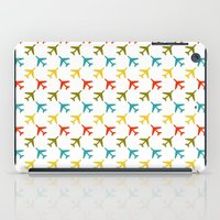 planes iPad Cases featuring Colored planes by Yasmina Baggili