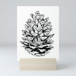 Pine cone illustration Mini Art Print