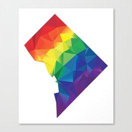 Geometric Washington D.C. Canvas Print