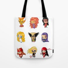 Chibi Heroines Set 3 Tote Bag