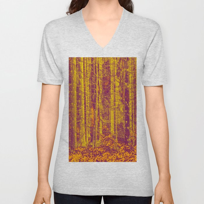 In the middle of the forest #decor #society6 Unisex V-Neck