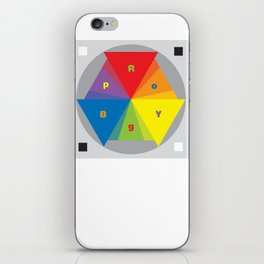Color wheel by Dennis Weber / Shreddy Studio with special clock version iPhone Skin