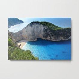 Navagio & Castaway Sea Beach Greece  Metal Print