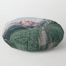 Mt. Baker Sunset Floor Pillow