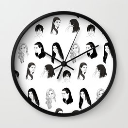 Keeping Up (Black and White) Wall Clock