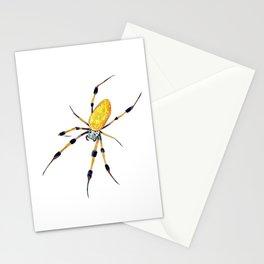 Golden Silk Orb Weaver Lineless Stationery Cards