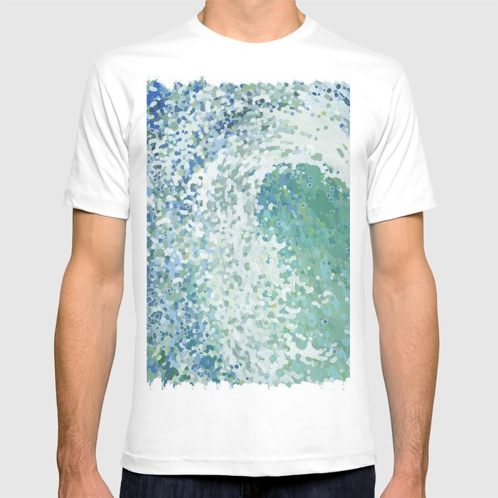 Amazonite Waves Surf Juul art T-shirt by margaretjuul
