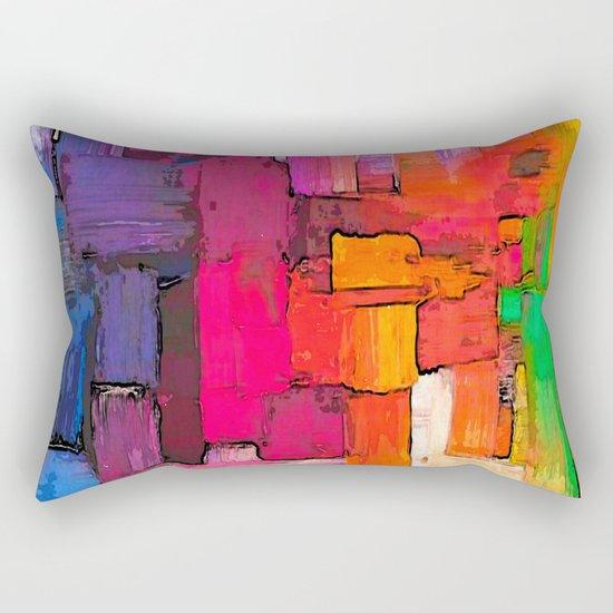 Color Interlace  Rectangular Pillow