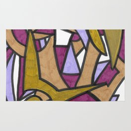 Be Honest Graffiti Style Abstract Drawing Rug