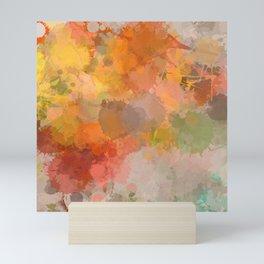 Modern contemporary Yellow Orange Abstract Mini Art Print